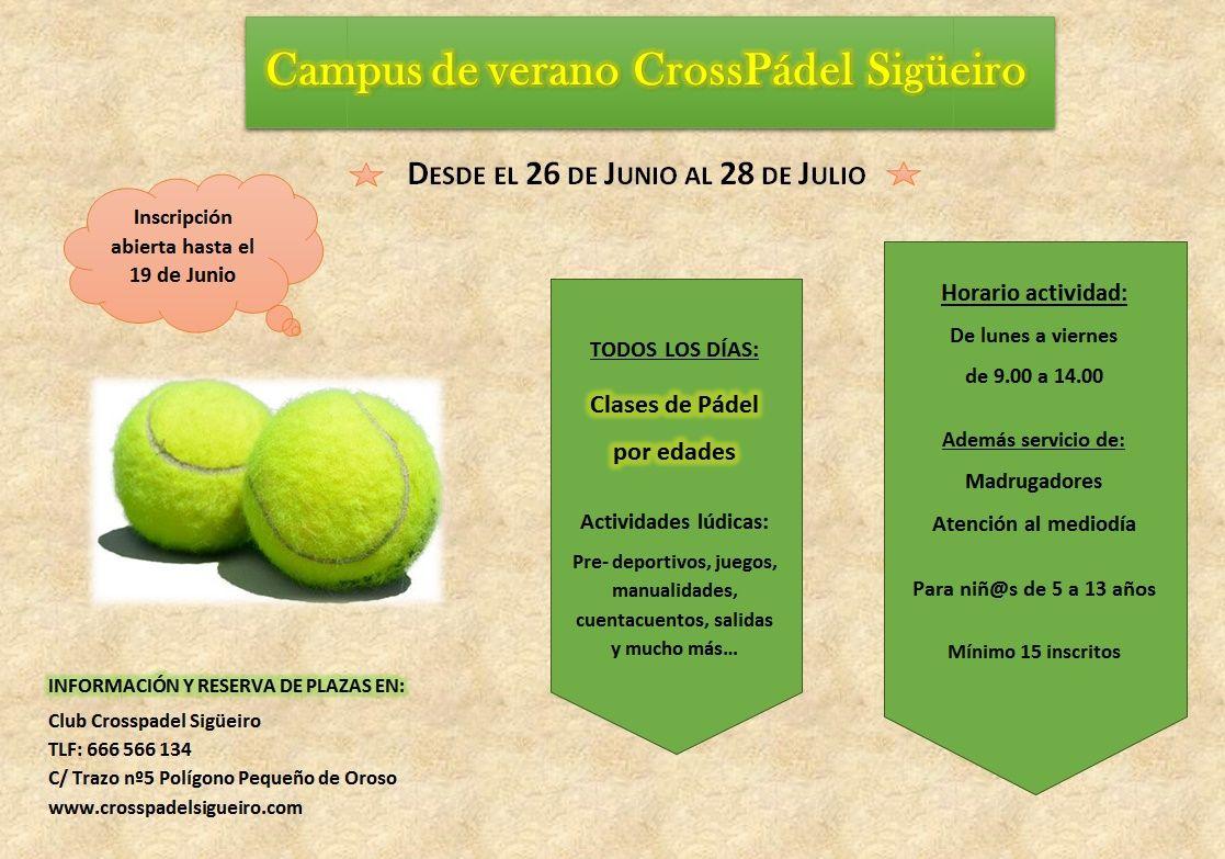 Campus de Verano 2017 Crosspadel Sigueiro